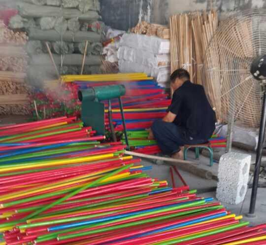 PVC COVER WOOD BROOM STICK FOR SALE