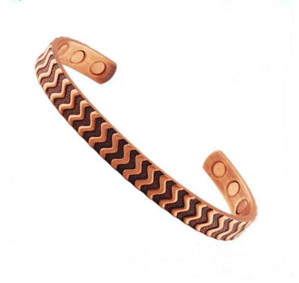 wholesale jewelry magnetic copper bracelet with gold or rose gold plated bracelet