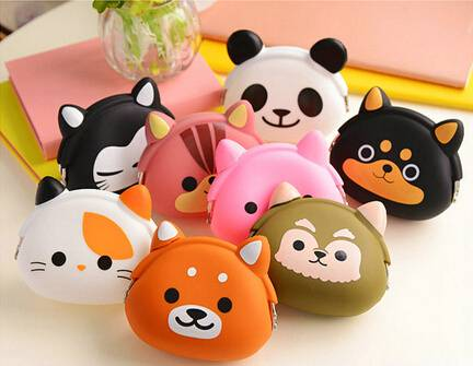 Eco-friendly rubber silicone material with customzied logo silicone rubber coin purse