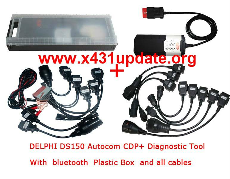 2014.03 DS150 CDP+ Diagnostic Tool for Cars/Trucks With bluetooth Plastic Box All Cables