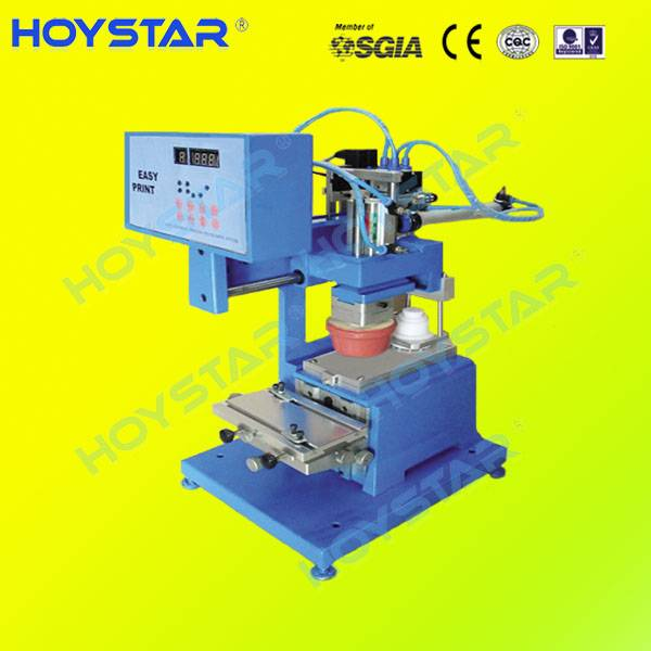 Mini closed ink cup pad printing machine