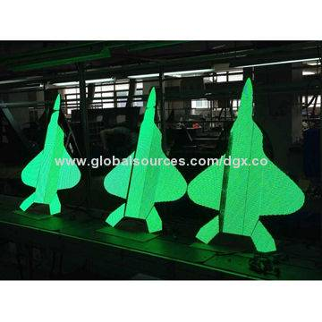 P4 Air Craft LED Display, 4mm Pitch Indoor Special Shape LED Display