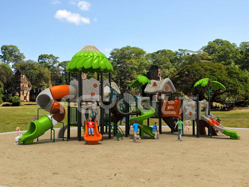 Playground equipment metal slide for kids