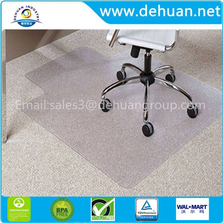 "Chair Mat for Carpets up to 0.1"" Thick, 47""x35"", Rectangular with Lip"