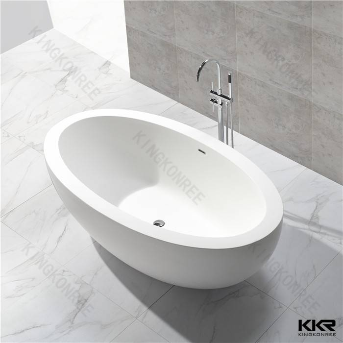 OEM Italy Pure Acrylic Solid Surface Stone Freestanding Bathtub