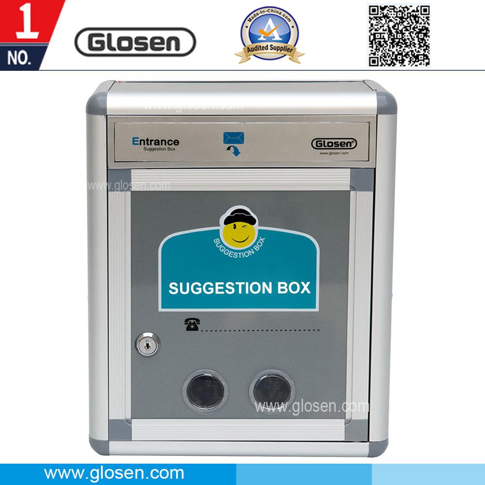 Glosen Large Size Aluminum Suggestion Box with Safe Key Lock F036