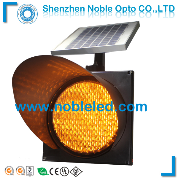Solar Powered Yellow Flashing Led Traffic Warning Signal system