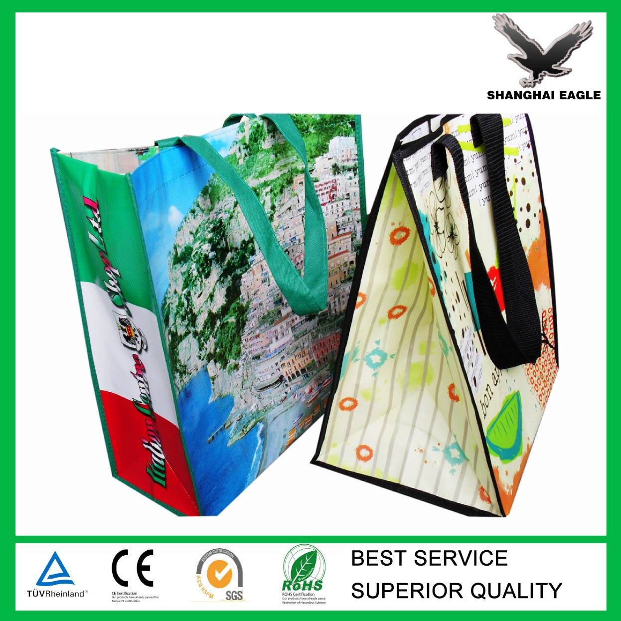Wholesales promotional Matte and Glossy BOPP Laminated PP Woven Bag
