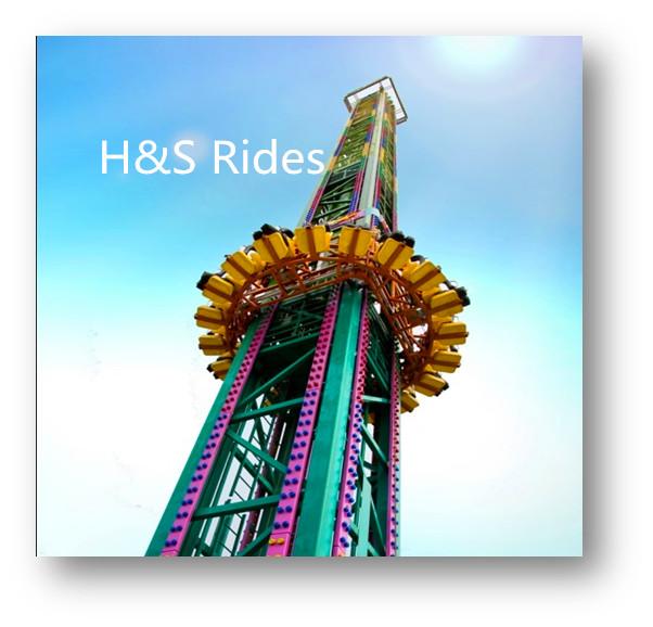 Launch Tower Rides, Amusement park rides