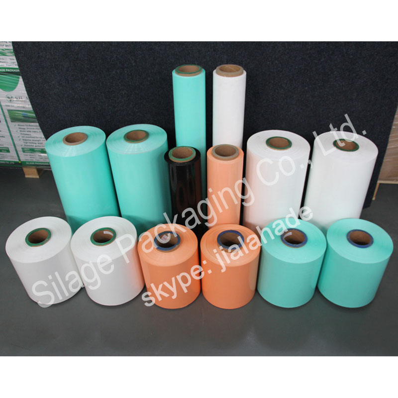 EU standard plastic film,hot sale silage film,stretch film for forage packing,high tear resistanc