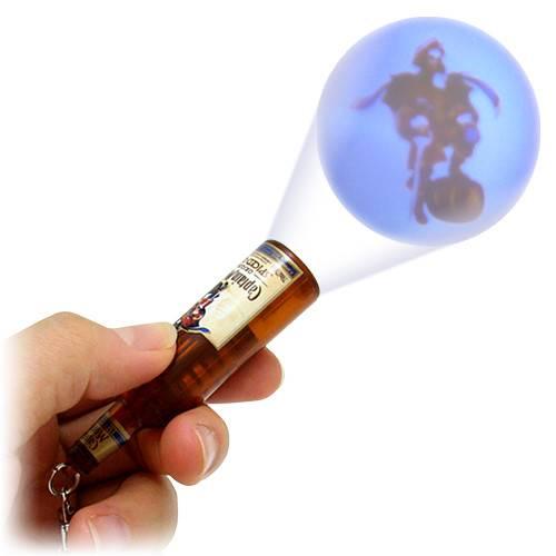 led bottle keyrings projector logo for giveways