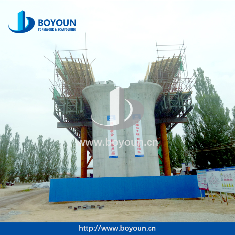 Circular Steel Formwok system slab Formwork Bridge Pier Formwork shuttering from Boyoun factory