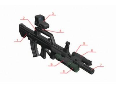 Ninety-Five Automatic Rifle Tactical Rail System