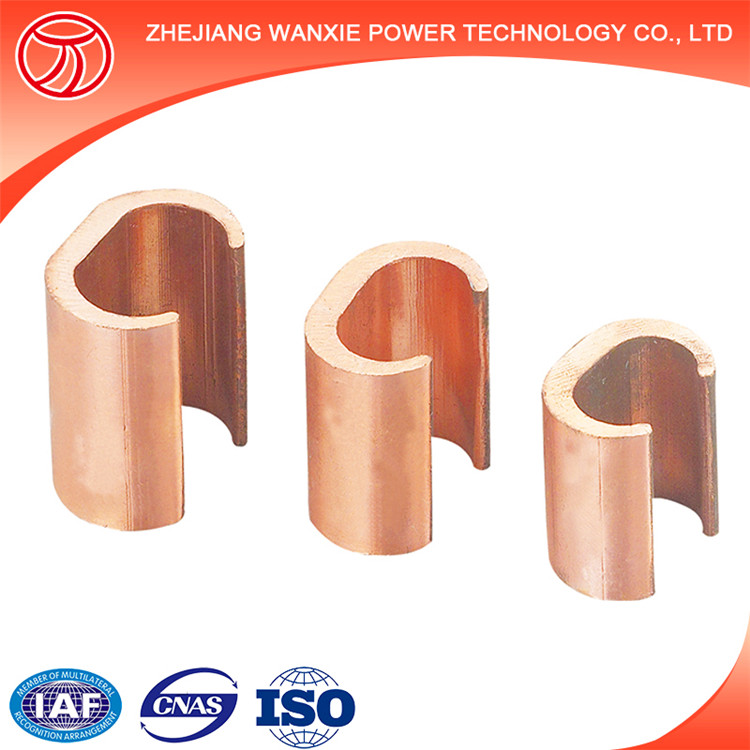 Copper pipe clamp C type /Electrical power line fitting copper wire clamp