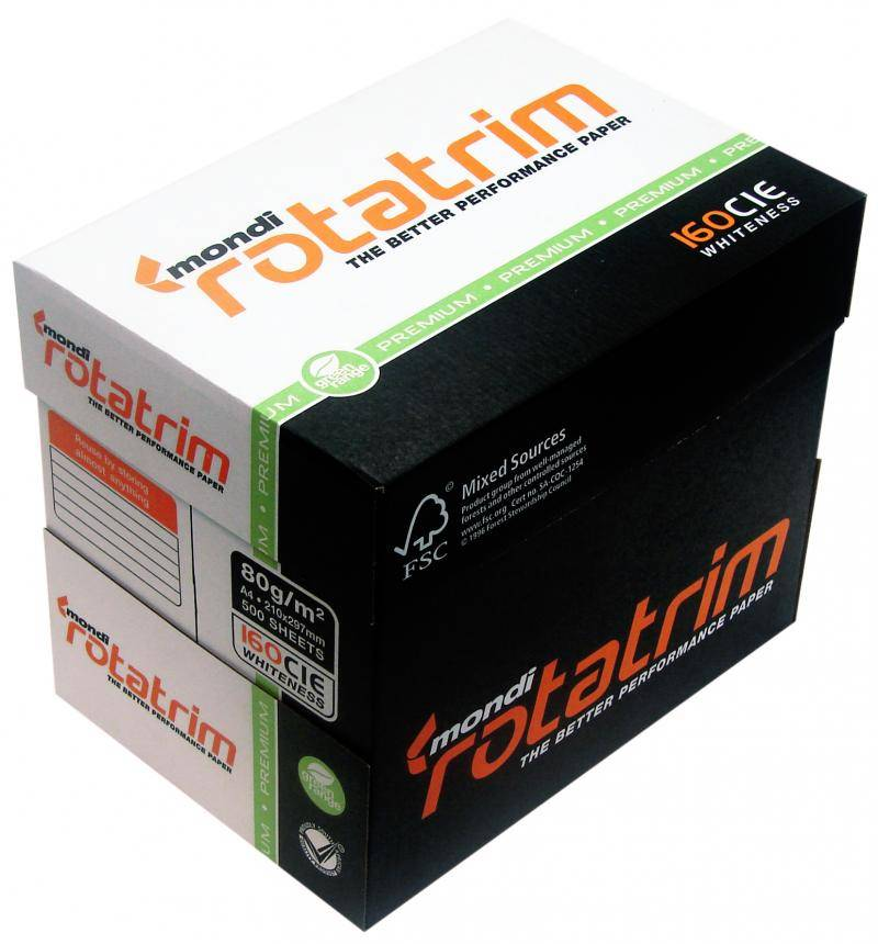 Mondi Rotatrim A4 copy Paper 80gsm,75 gsm,70 gsm Copier Paper