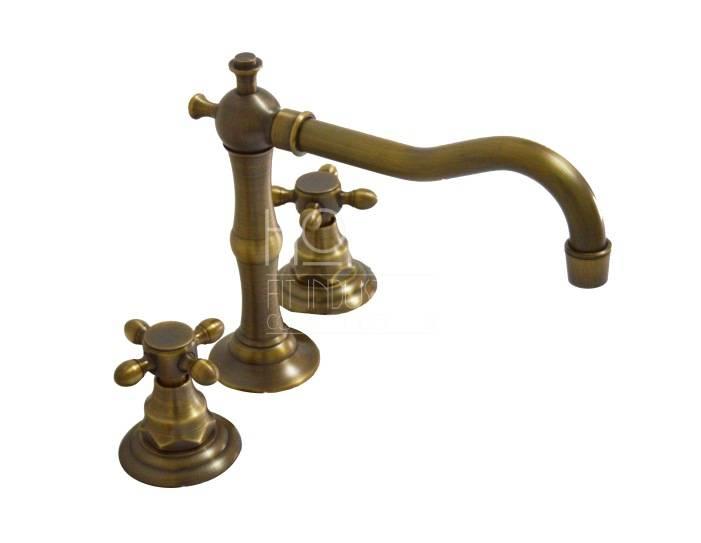 antique bronze 3 hole single mixer wash basin faucet