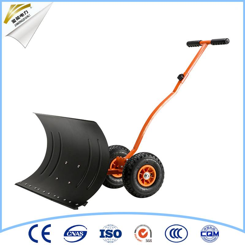 snow shovel with wheel snow push