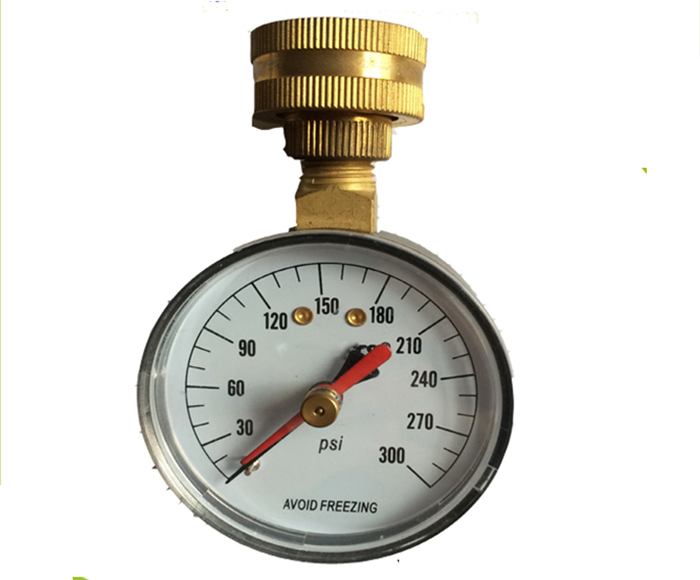 WATER TEST PRESSURE GAUGE WITH RED POINTER