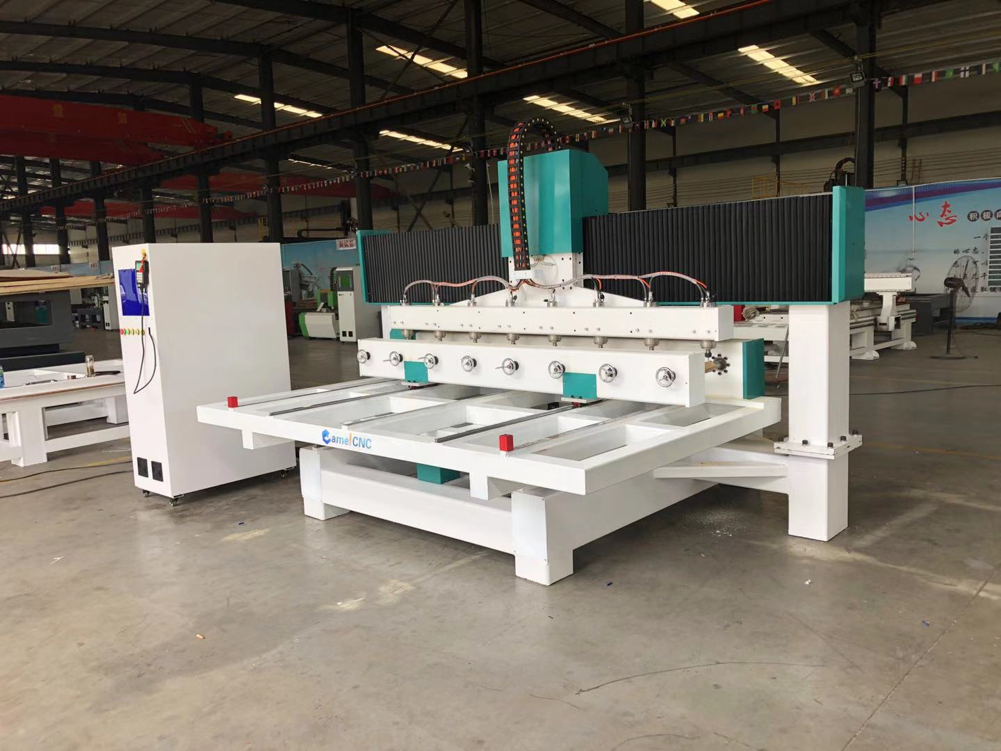 High quality CA-1225 4 axis Multi Heads Wood CNC Router Machine/DSP Sculpture Wood machinery