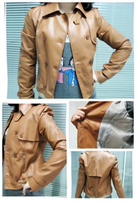 2016 new design fshion leather jacket for women