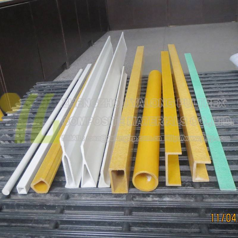 High strength top quality frp products fiberglass cross support beams pultruded frp structure Profil