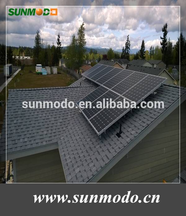 Picthed roof solar racking system