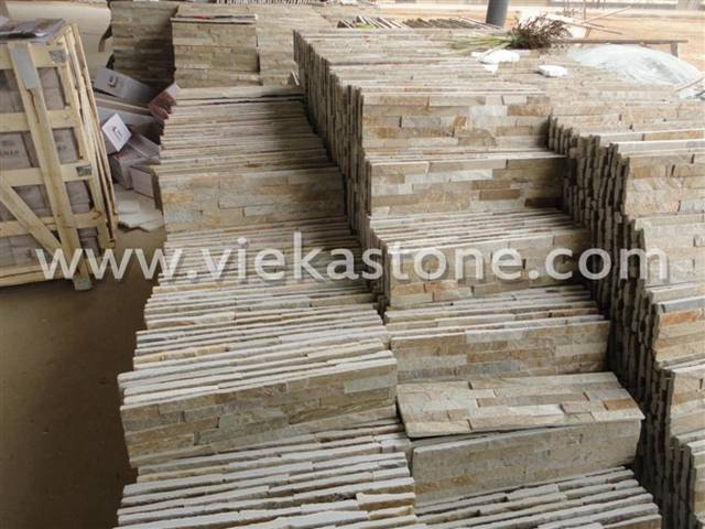 beige culture stone wall panel