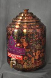 Pure Copper Water Storage Matka with brass tap
