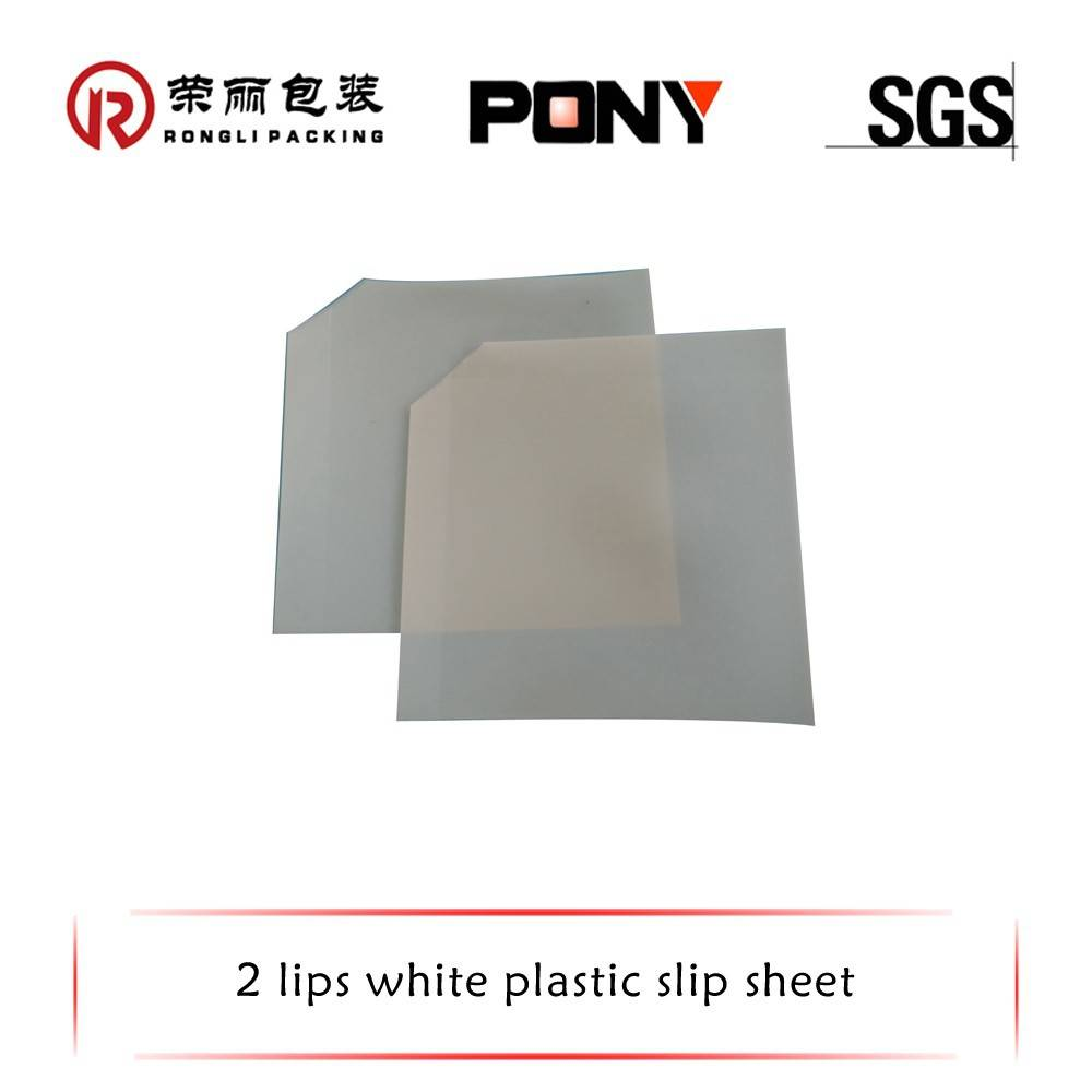 High tensile waterproof 100% recycled HDPE White plastic pallet slip sheet