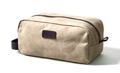 Waxed Canvas Dopp Kit/dopp kit/men shave bag/men toiletry bag