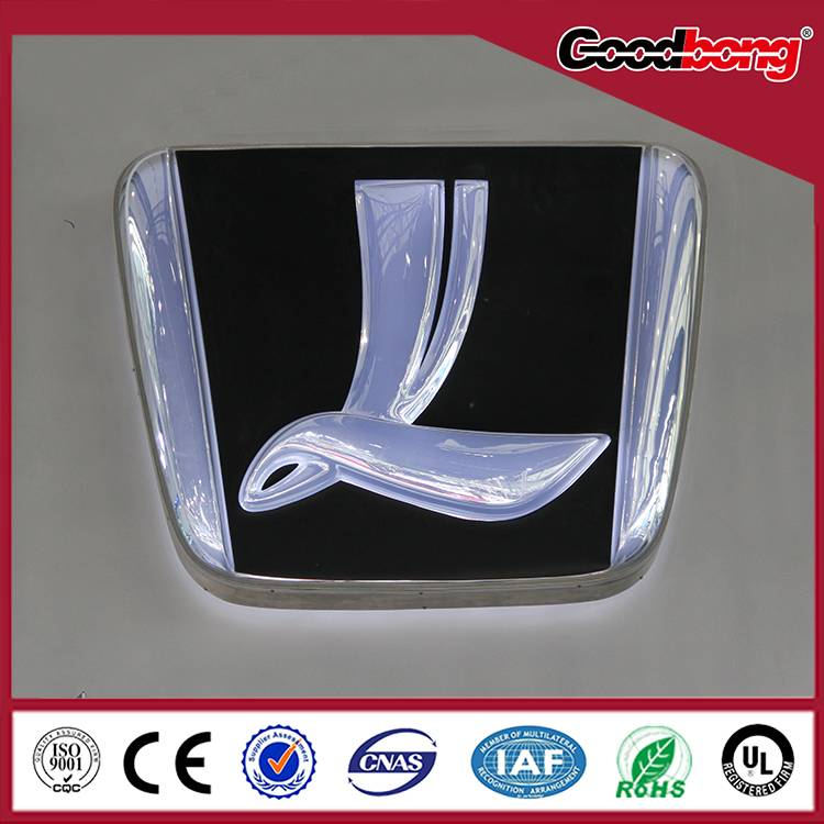 Particular Outdoor &Indoor Custom High Quality Acrylic Car Logo and Their Names
