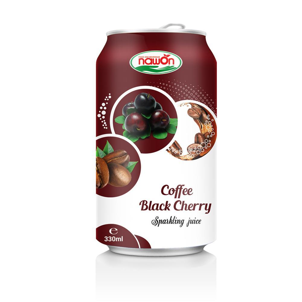 Sparkling Juice Coffee Black Cherry Cabonated Drink