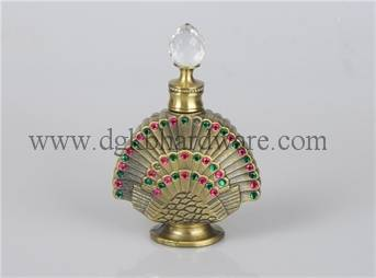 12 sector metal perfume bottle