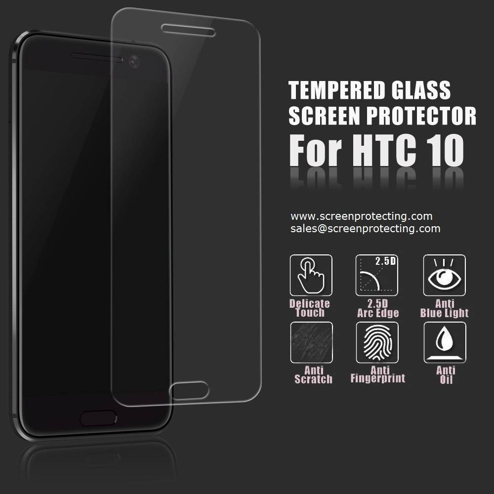 2.5D Screen Guard Screen Shield 9H Premium Tempered Glass Screen Protector for HTC Desire10
