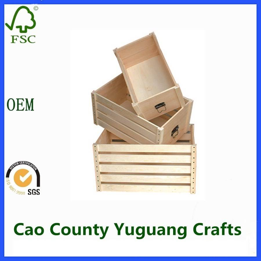 Cheap Wooden Shipping Fruit Crates