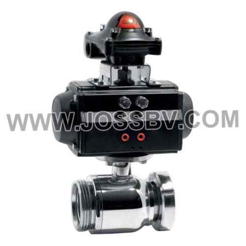 Hygienic Pneumatic Ball Valve With Visual Control Head