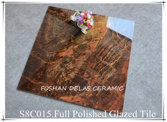 8C015 Glossy Full Polished Glazed Porcelain Tile 60x60 80x80 100x100