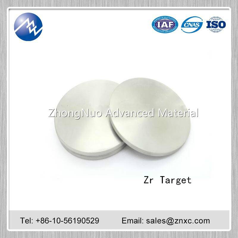 Manufacture High purity 99.99% Zr Zirconium sputtering target
