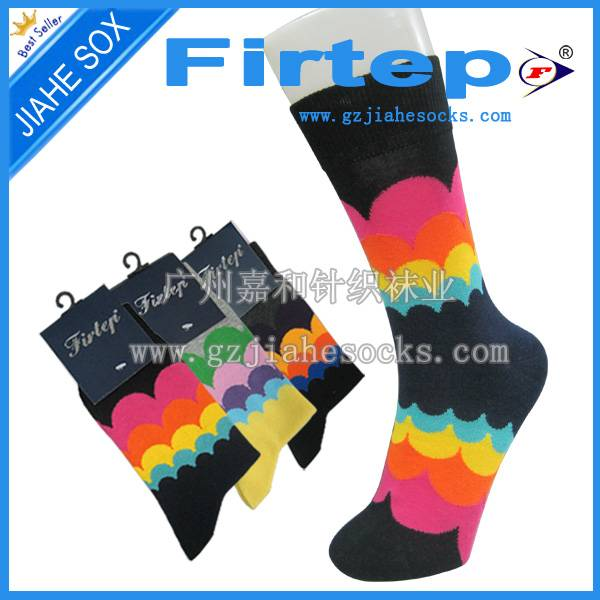 custom design with logo colorful men's casual socks