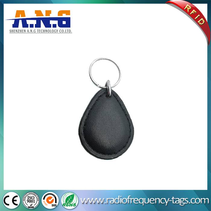 CMYK Printing Leather RFID Keychain Tag Access Control