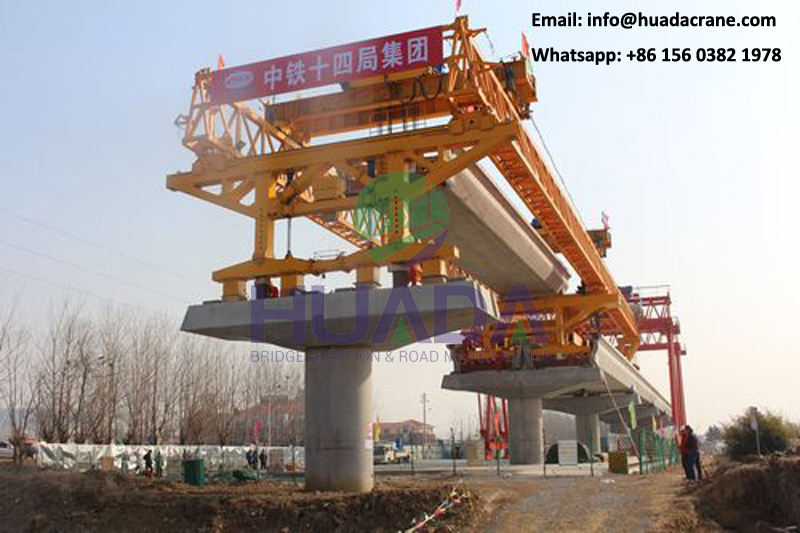 250 ton LRT beam launcher bridge building equipment construction machinery