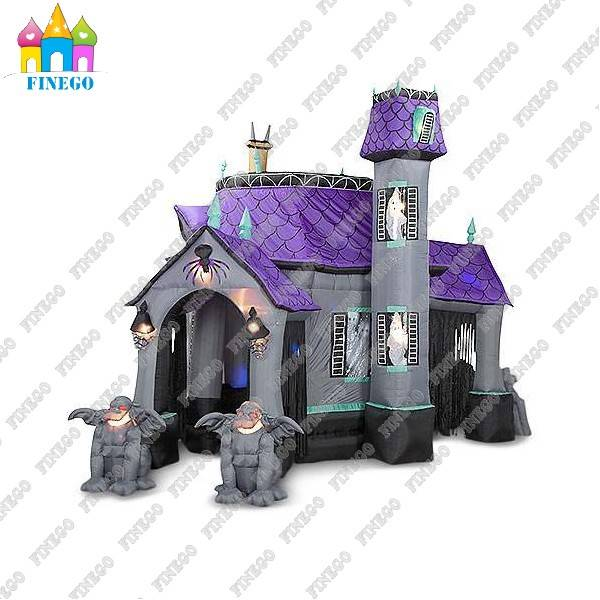 Halloween Ghost Inflatable Haunted House Castle with LED Lights