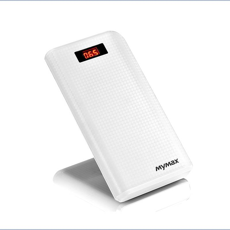 Imymax External Portable 30000mAh 2 USB Interface Carbon Power Bank