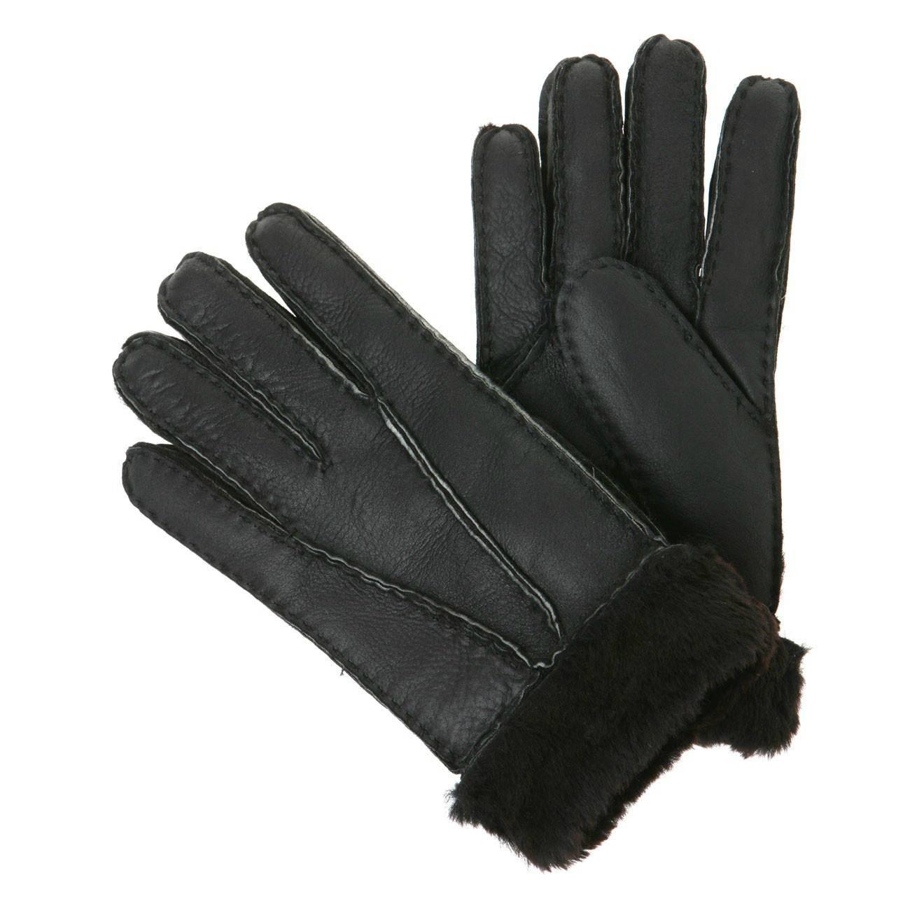 100% leather gloves for men