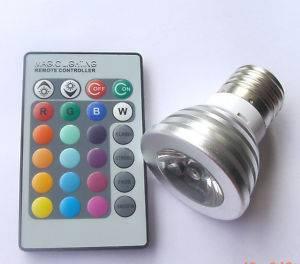 E27 3w RGB Multi-color flash LED Bulbs + remote control