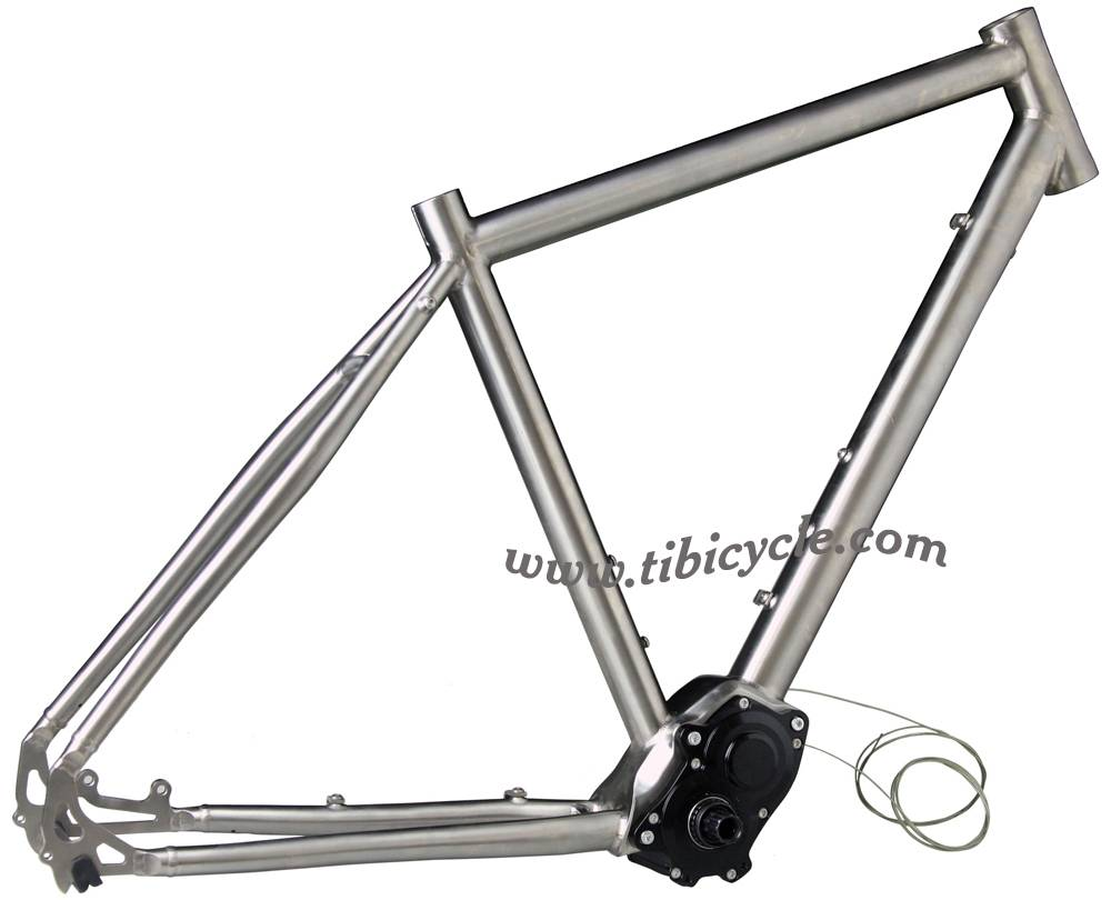 Touring Titanium Bike Frame with Pinion Drive System PINION 014