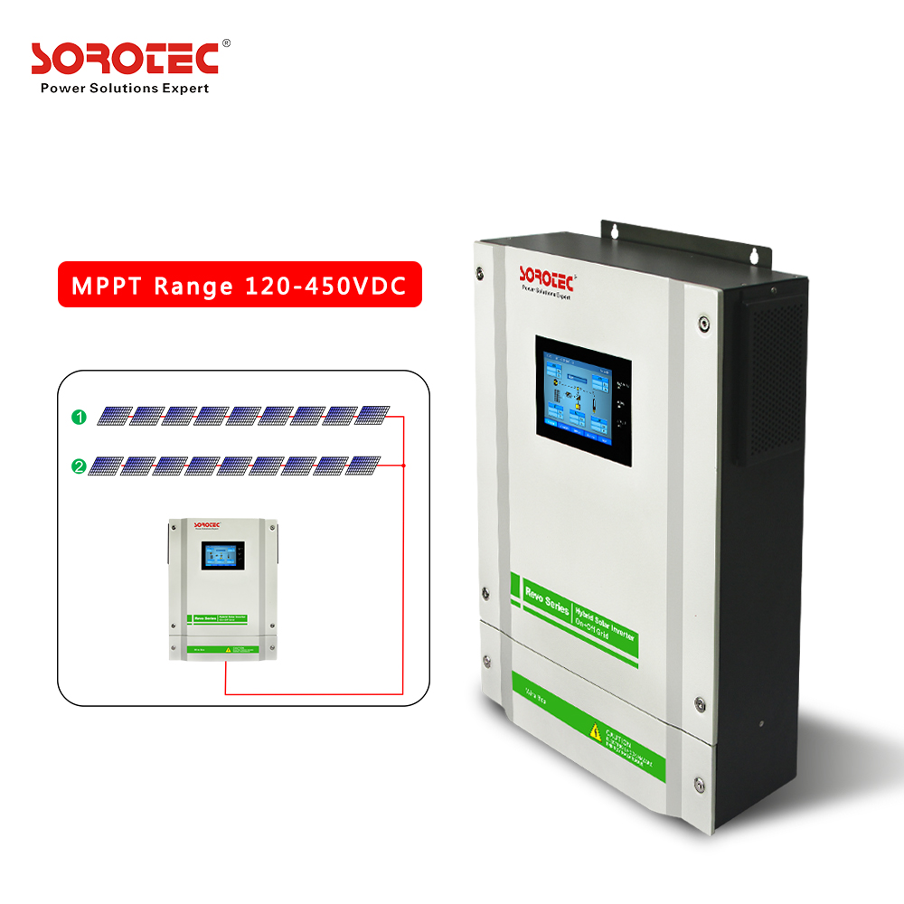 3KW 3.2KW 3.5KW On/Of Grid Hybrid Solar Inverter With Touch Screen Display