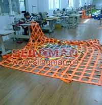 China supplier webbing cargo net lifting net cargo holding cargo secure cargo control