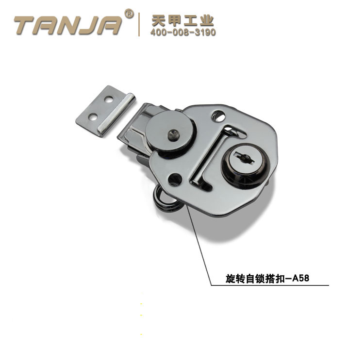 TANJA A58 chrome spring clasp clip / rotary lockable toggle latches for equipment