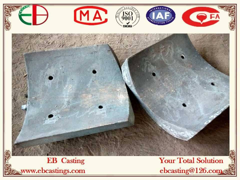 Ni-hard White Iron Chute Liners Heavy Section Bolt Holes ASTM A532 Class I Type A Ni-Cr-Hc Ni5Cr4 EB